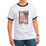 Freedom isn't free Distressed Ringer T