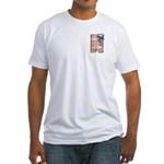 Freedom isn't free Distressed Fitted T-Shirt
