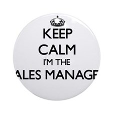 Keep calm I'm the Sales Manager Ornament (Round)