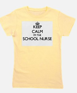 Keep calm I'm the School Nurse Girl's Tee