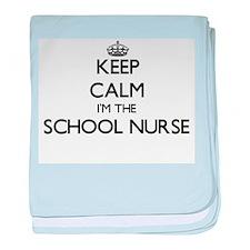 Keep calm I'm the School Nurse baby blanket