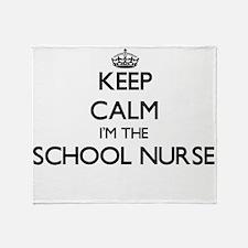 Keep calm I'm the School Nurse Throw Blanket