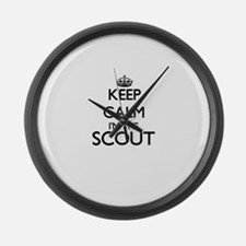 Keep calm I'm the Scout Large Wall Clock