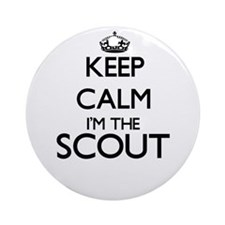 Keep calm I'm the Scout Ornament (Round)