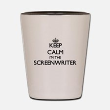 Keep calm I'm the Screenwriter Shot Glass
