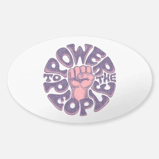 Power to the People 1017 Sticker (Oval)