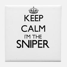 Keep calm I'm the Sniper Tile Coaster