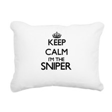 Keep calm I'm the Sniper Rectangular Canvas Pillow