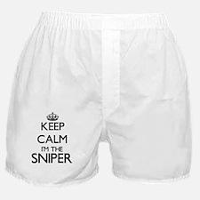 Keep calm I'm the Sniper Boxer Shorts