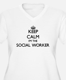 Keep calm I'm the Social Worker Plus Size T-Shirt