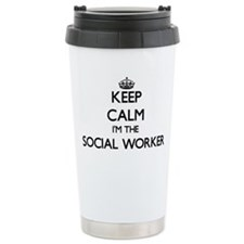 Keep calm I'm the Socia Travel Mug