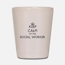 Keep calm I'm the Social Worker Shot Glass