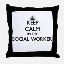 Keep calm I'm the Social Worker Throw Pillow