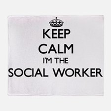 Keep calm I'm the Social Worker Throw Blanket