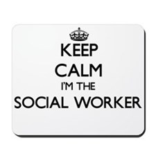 Keep calm I'm the Social Worker Mousepad
