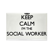 Keep calm I'm the Social Worker Magnets