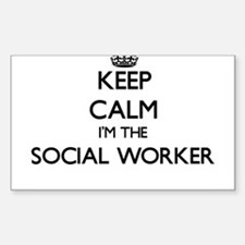 Keep calm I'm the Social Worker Decal