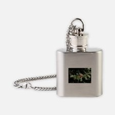 Christmas Holly Berries Flask Necklace