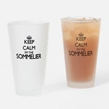 Keep calm I'm the Sommelier Drinking Glass