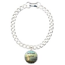 LET GO AND LET GOD Charm Bracelet, One Charm