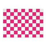 Pink and white checkered 5x7 Rugs