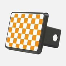 ORANGE AND WHITE Checkered Pattern Hitch Cover