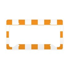 ORANGE AND WHITE Checkered Pattern License Plate H