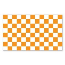 ORANGE AND WHITE Checkered Pattern Decal