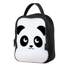 panda smile copy.png Neoprene Lunch Bag