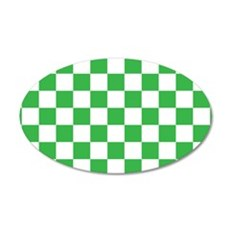 GREEN AND WHITE Checkered Pattern Wall Decal