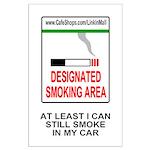 Cigarette Smoking Ban<BR>Large Poster