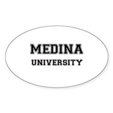 MEDINA UNIVERSITY Oval Bumper Stickers