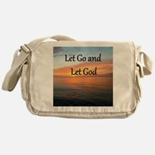 LET GO AND LET GOD Messenger Bag