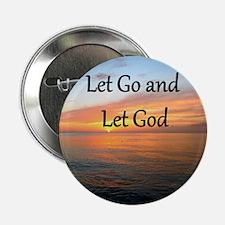 "LET GO AND LET GOD 2.25"" Button (10 pack)"