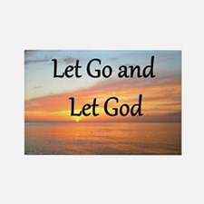 LET GO AND LET GOD Rectangle Magnet
