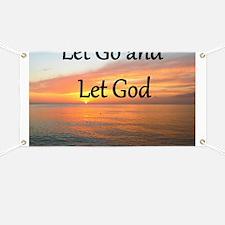 LET GO AND LET GOD Banner
