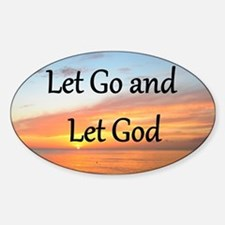LET GO AND LET GOD Decal