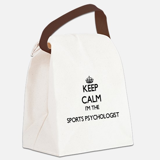Keep calm I'm the Sports Psycholo Canvas Lunch Bag
