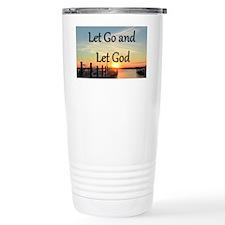 LET GO AND LET GOD Travel Coffee Mug