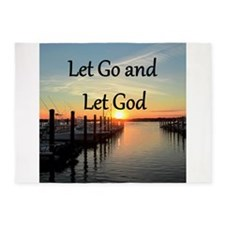 LET GO AND LET GOD 5'x7'Area Rug