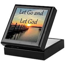 LET GO AND LET GOD Keepsake Box