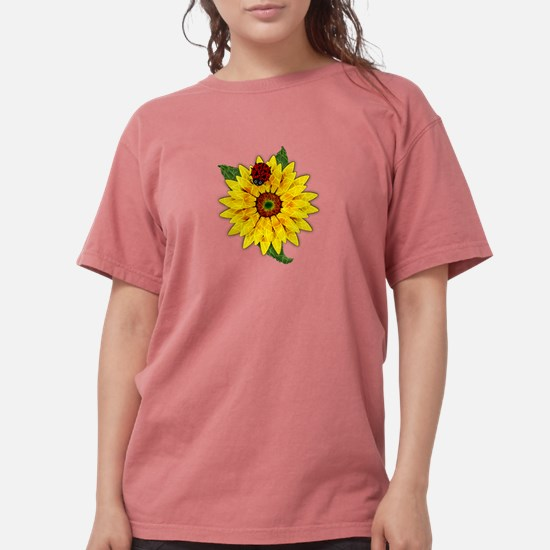Mosaic Sunflower with Lady Bug T-Shirt