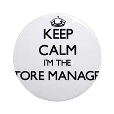Keep calm I'm the Store Manager Ornament (Round)