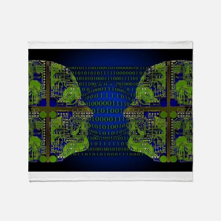 Binary Communication Throw Blanket