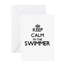 Keep calm I'm the Swimmer Greeting Cards