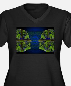 Binary Communication Plus Size T-Shirt