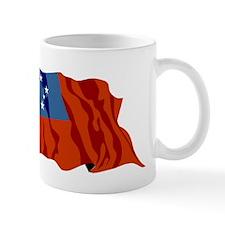 Western Samoa Flag Mugs