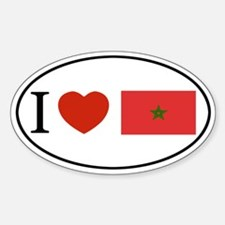 I love Morocco Oval Decal