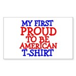 Proud to be American Rectangle Sticker