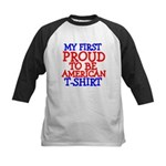 Proud to be American Kids Baseball Jersey